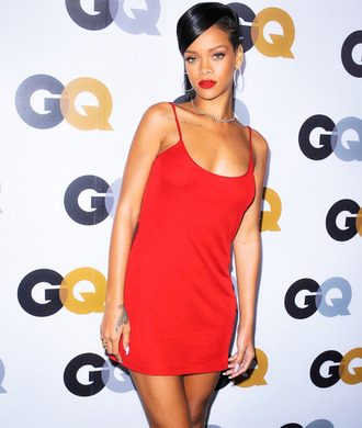 dress red rihanna red dress