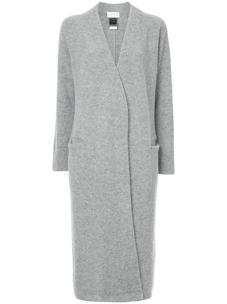 coat long women wool grey