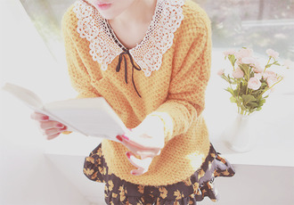 yellow classy style clothes lemongrass peter pan collar