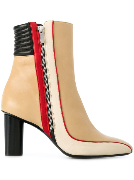 BARBARA BUI zip women ankle boots leather nude shoes