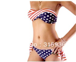 2013 versandkostenfrei badeanzüge Explosion Modelle in Europa und Amerika flagge bikini bademode bademode