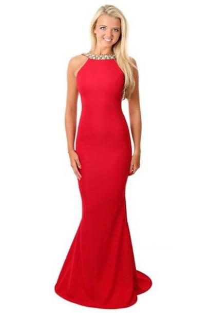 dress red dress prom dress mermaid prom dress style sequin dress beaded dress long prom dress slit dress open back dresses backless dress high neck dress lucy mecklenburgh