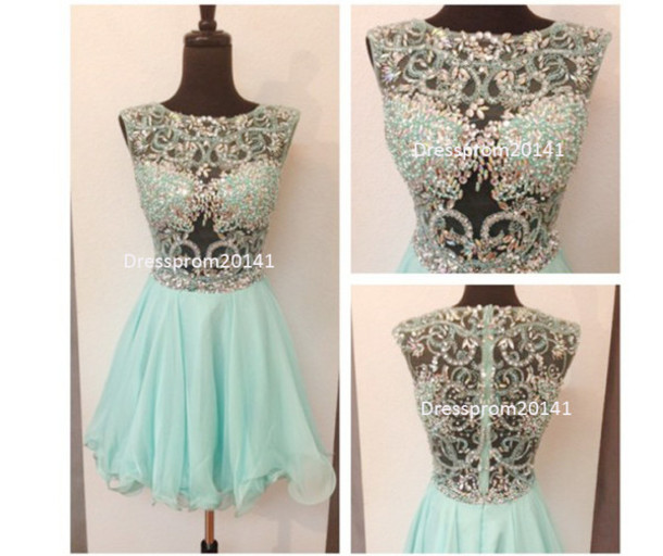 aa6ed0b3234 dress blue dress wedding dress prom dress short prom dress beading dresses  women summer dress short