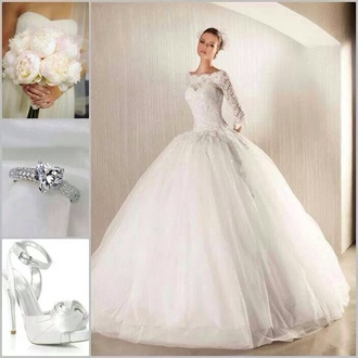 dress wedding sleeves princess ring engagement ring shoes sexy shoes jewels