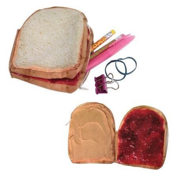 home accessory toast food jam back to school pencil case