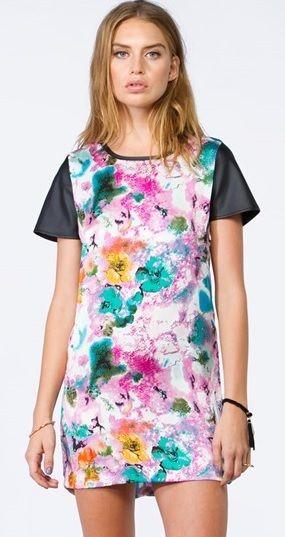 Bnwt floral print mini dress new princess polly s m l