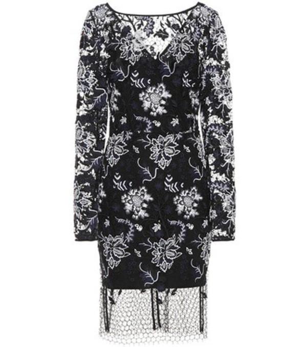 Diane von Furstenberg Embroidered lace dress in black
