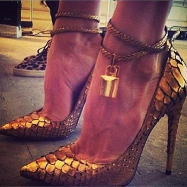 gold snake skin
