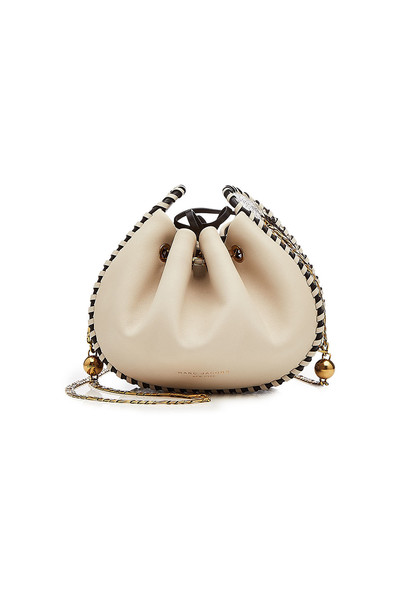 purse leather beige bag