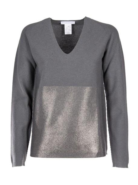 sweater metallic grey