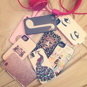 jewels,iphone 5 case,pastel,pastel cover,eyes,classy