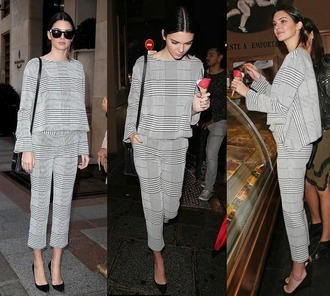 pants top blouse kendall jenner fashion week 2014 streetstyle