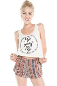 Brandy Melville TOO Sassy FOR YOU Tank | eBay
