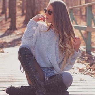 sweater grey grey sweater comfy sweater casual knitted sweater cute sweaters