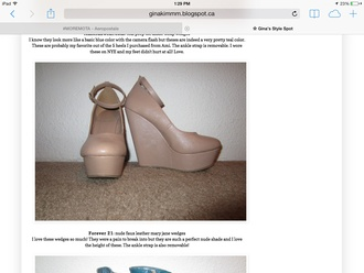 shoes nude wedges mary jane forever 21