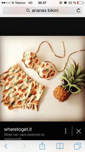 swimwear orange pineapple swimsuit
