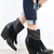 VERY VOLATILE Khloe Black Fringe Wedge Booties