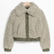 & other stories   faux shearling jacket   khaki green