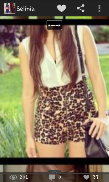 shorts High waisted shorts leopard print