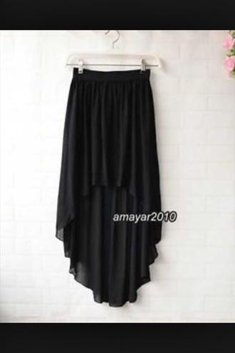 black dance wear dance high waisted skirt high low skirt