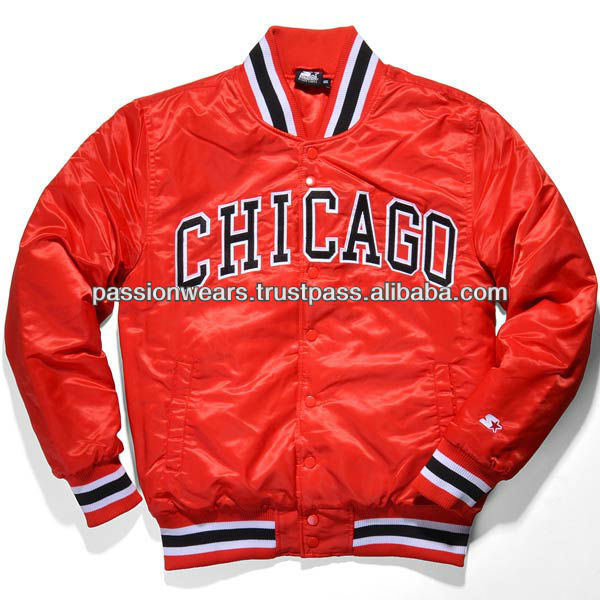 Chicago Bull Varsity Letterman College Baseball Jacket Photo ...