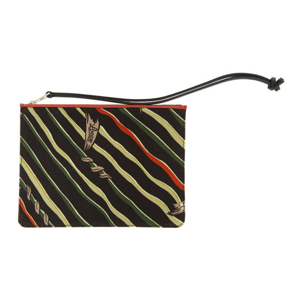 Loewe Black & Red Paula's Ibiza Edition Flag Print Pouch