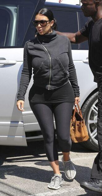 sweater sweatshirt sportswear leggings sneakers kim kardashian