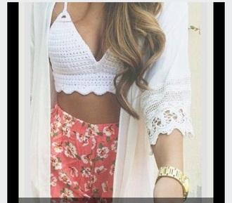 shorts floral pinkandgreen top