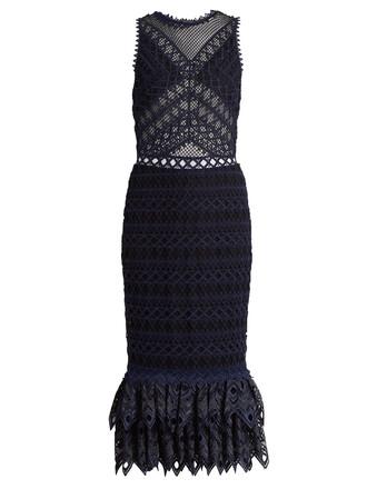 dress lace navy