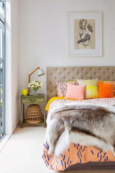 top peach light orange comforter
