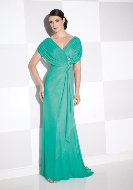 dress bridesmaid teal gown
