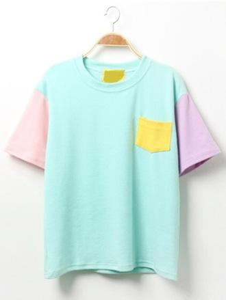 shirt color block shirt