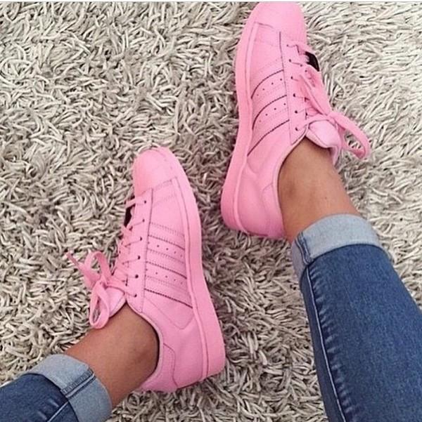 adidas super color rosadas