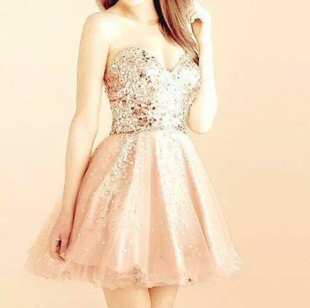 Custom made a line sweetheart neck gold sequins short prom dresses, short homecoming dresses