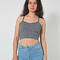 Cotton spandex elastic crop tank | american apparel