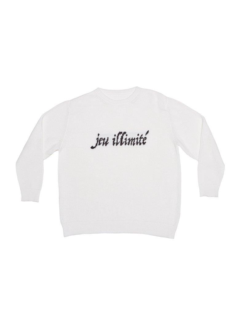 Novelty Knit Sweater - White