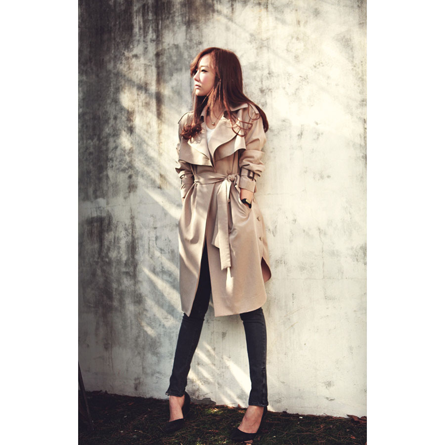 Chic Me Up Belted Khaki Trench Coat - Retro, Indie and Unique Fashion