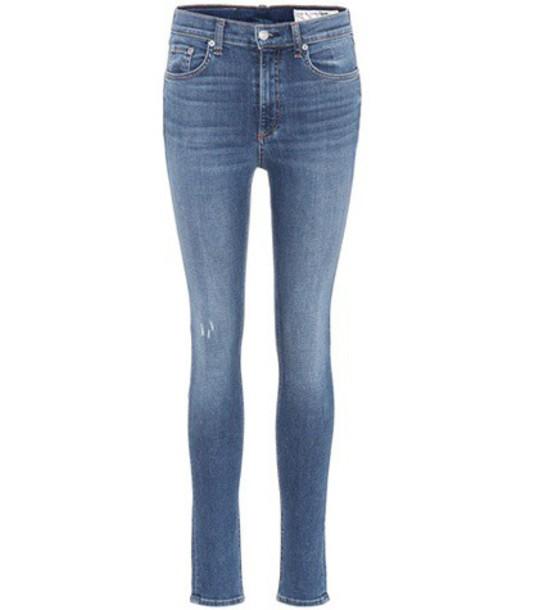 Rag & Bone jeans skinny jeans high blue