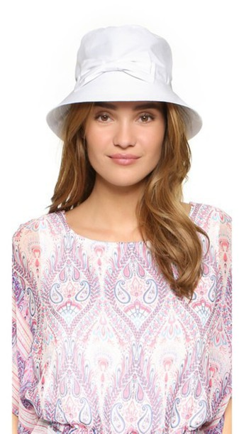 Kate Spade New York Multi Month Rain Bucket Hat - Fresh White