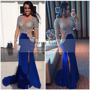 Aliexpress.com : Buy robe de soiree Royal Blue Long Evening ...