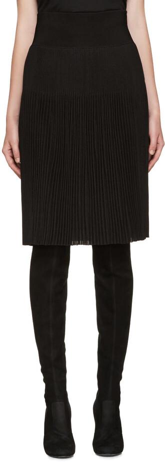 skirt pleated skirt pleated knit back