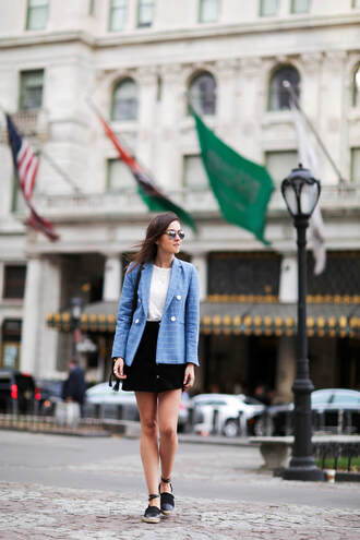 style scrapbook blogger jacket t-shirt skirt shoes sunglasses bag