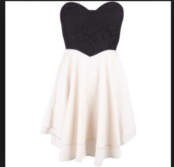strapless bustier short chiffon withe