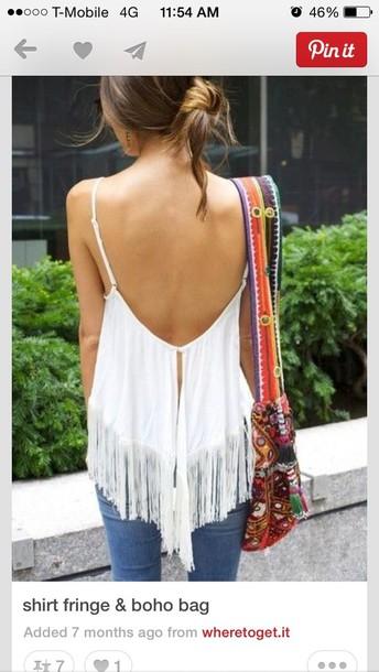 bag purse boho satchel shirt