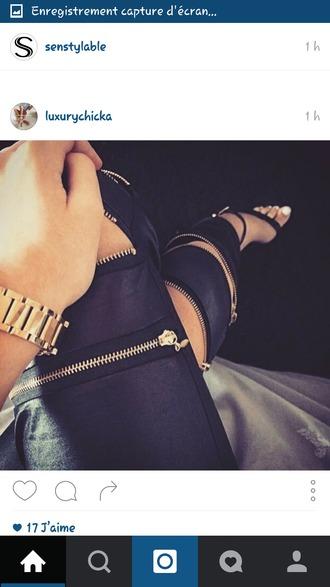 jeans black jeans zip