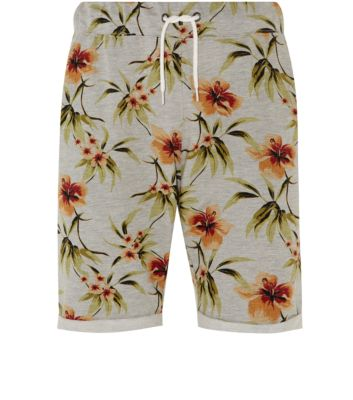 Stone floral print jersey shorts