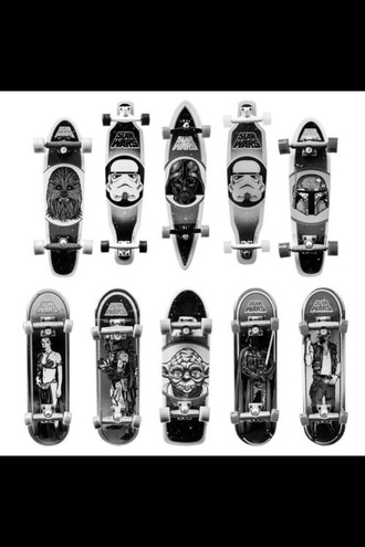 sweater star wars skateboard skater b&w style trendy longboard
