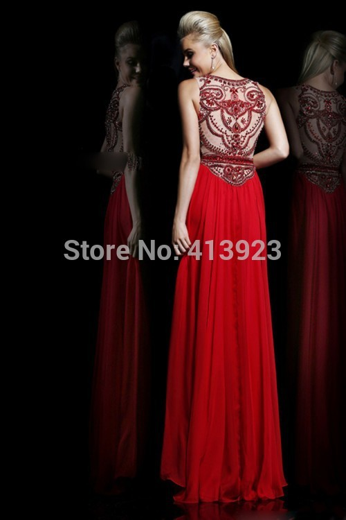 Aliexpress.com : Buy 2014 Scoop A Line Full Length Prom Dress Beaded Tulle Bodice With Chiffon Skirt from Reliable bead embroidery dress suppliers on Chaozhou City Xin Aojia dress Factory