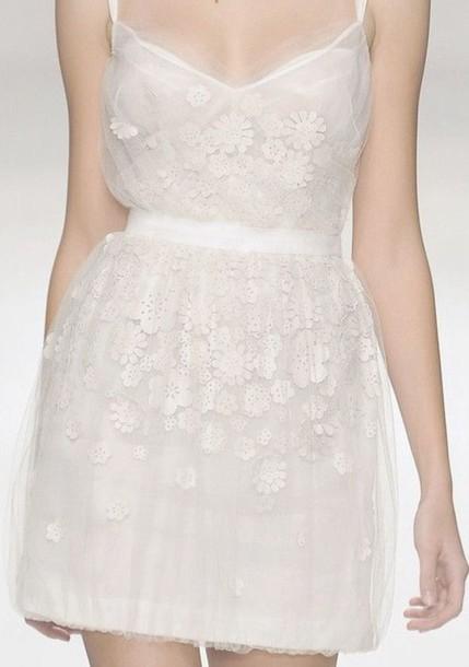 dress white dress flowers