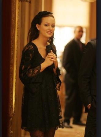 dress black dress blair waldorf lace dress